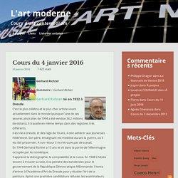 Cours du 4 janvier 2016 – L'art moderne