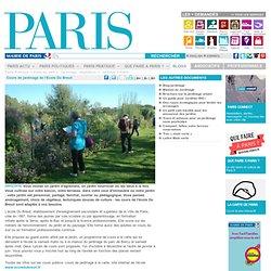 Cours de jardinage de l'Ecole Du Breuil