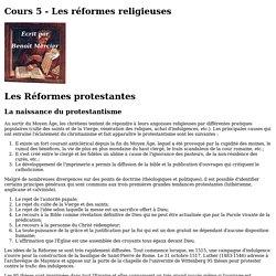Cours PHI UQAM: Les réformes religieuses