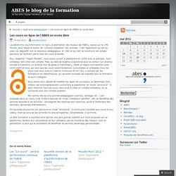Les cours en ligne de l'ABES en accès libre
