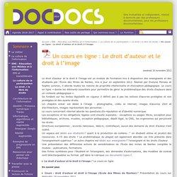 Un cours en ligne : Le droit d'auteur et le droit à l'image - Doc pour docs