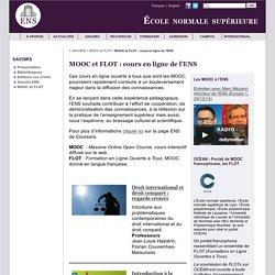 MOOC et FLOT : cours en ligne de l'ENS
