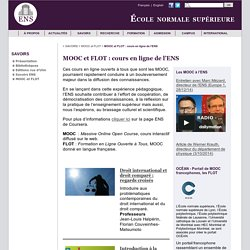 MOOCs et FLOTs : cours en ligne de l'ENS