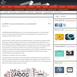 Les SPOC : des cours en ligne avec un suivi personnel !