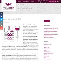 Cours en ligne sur le vin : MOOC