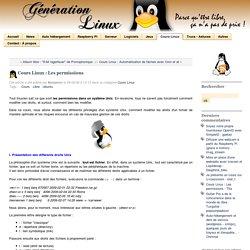 Cours Linux : Les permissions