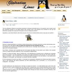 Cours Linux : sudo