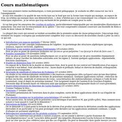 Cours mathématiques