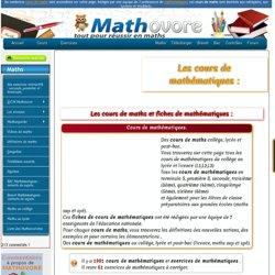Cours de maths du collège au lycée (sixième, cinquième, quatrième, troisième, seconde, première et terminale).