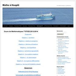 Cours de Mathématiques T°STI2D 2013-2014
