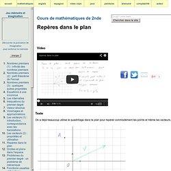 Cours de mathématiques de 2e - repères dans le plan