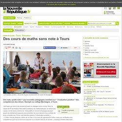 Des cours de maths sans note à Tours - 13/11/2015