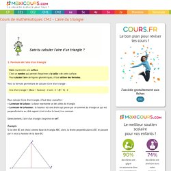 Cours de maths CM2 - L'aire du triangle