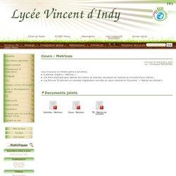 Cours : Matrices - Lycée Vincent d'Indy