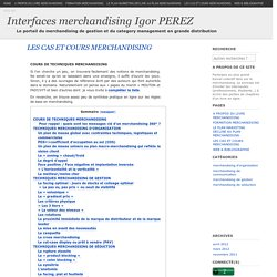 Interfaces merchandising Igor PEREZ