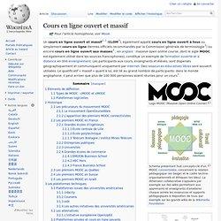 MOOC Cours en ligne ouvert et massif