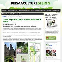 Cours de permaculture urbaine