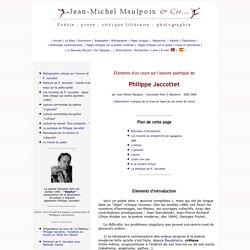 Cours sur Philippe Jaccottet