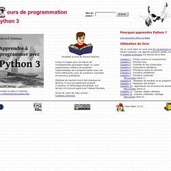 Cours de programmation Python