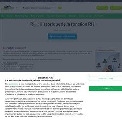 Cours RH : Historique de la fonction RH