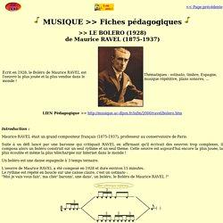 ZIC TRAD_Cours_Scolaire_Fiche Boléro RAVEL