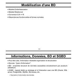 Cours SGBD : Modèles