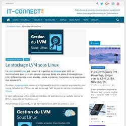 Cours : Le stockage LVM sous Linux
