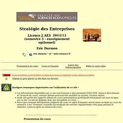 Cours Stratégies d'Entreprises