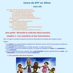 Cours de SVT en 3ème