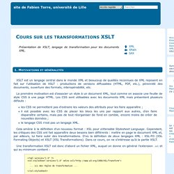Cours transformation de documents XML avec XSLT