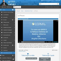 Leava.fr - Cours de Torah Vidéo en ligne en Français