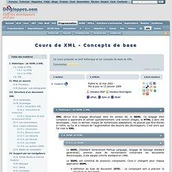 Cours de XML - Concepts de base