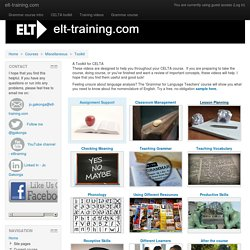 Course: A Toolkit for CELTA