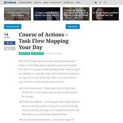 Course of Actions - Task Flow Mapping Your Day