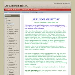 Course: AP European History
