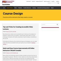 Course Design Archives - TeachOnline