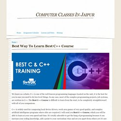 Best Way To Learn Best C++ Course