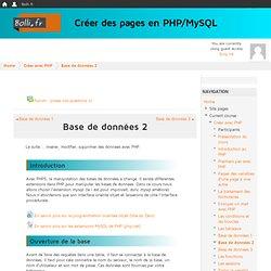 Cours: Créer des pages en PHP/MySQL