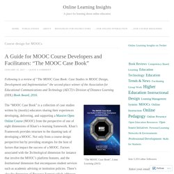 Course design for MOOCs