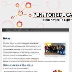 PLN Course – Designed by EDUC 612 students