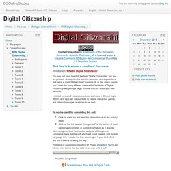 Course: Digital Citizenship