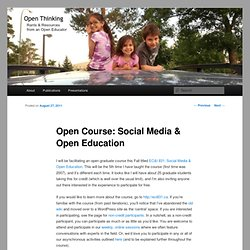 Open Course: Social Media & Open Education