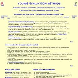 urse Evaluation Methods: 8 tips + 42 methods + 12 links