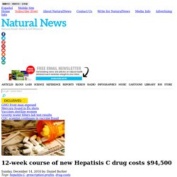 12-week course of new Hepatisis C drug costs $94,500