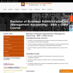 CIMA Course in India - GITAM Institute of Management