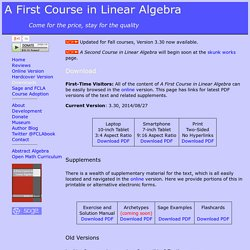 A First Course in Linear Algebra (A Free Textbook)