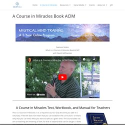 A Course in Miracles Book ACIM Lessons Online and Text