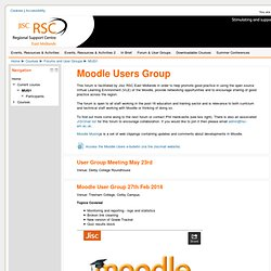Course: Moodle Users Group