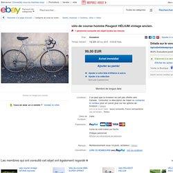 Vélo DE Course Homme Peugeot Hélium Vintage Ancien