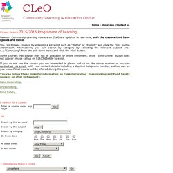 Community Learning & education Online (CLeO)